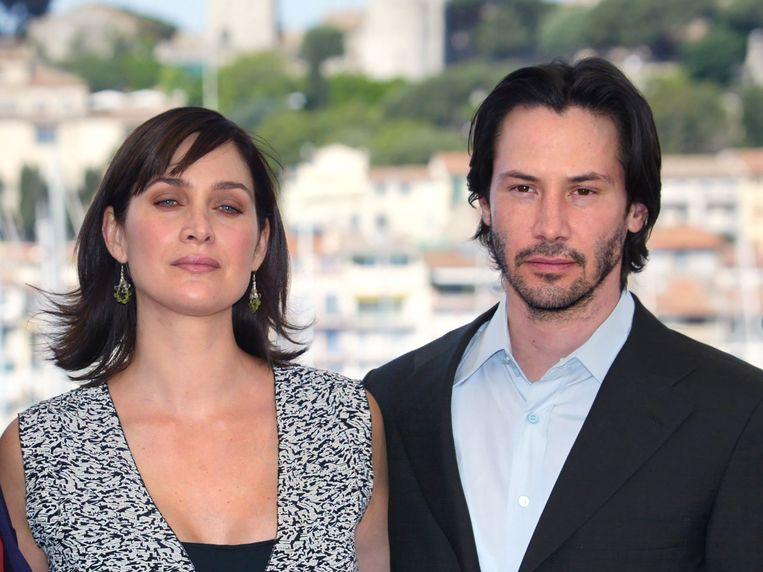 Keanu Reeves en Carrie-Anne Moss keren terug als Neo en Trinity. Beeld AFP
