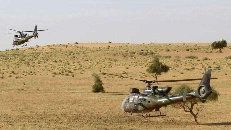 Twee Franse helikopters in Mali Beeld afp