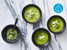 Wat Eten We Vandaag: Prei-tuinerwtensoep met basilicum