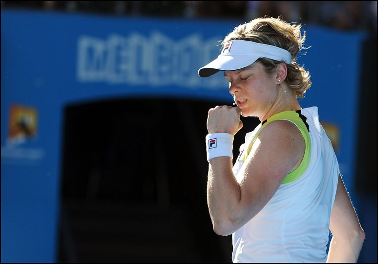 Clijsters in 2012 op de Australian Open. Beeld Photo News