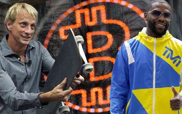 Ook skater Tony Hawk en bokser Floyd Mayweather spreken op het grootste bitcoin-event ter wereld.