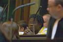 Junior Pashi Kabunda lors de son procès (décembre 2010)