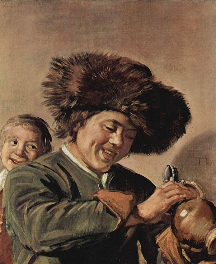 """""""Twee lachende jongens"""" van Frans Hals."""