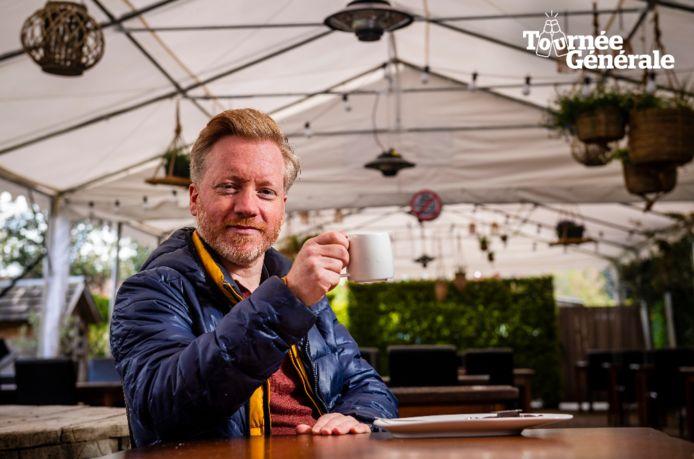 Hoogstratenaar Florejan Verschueren kiest voor Oud Hoogstraeten als eerste terras dit weekend.