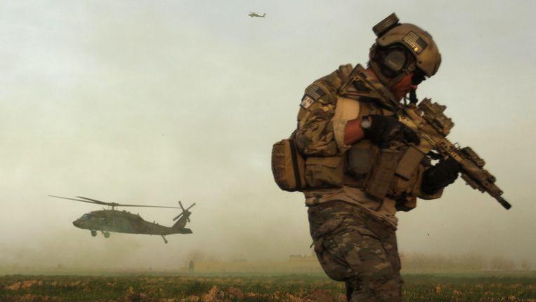 Archiefbeeld van een Amerikaanse soldaat van de 'special forces' in Afghanistan. Beeld AFP