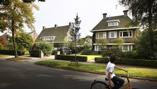 De Stationsweg in de gemeente Haren waar het feest van Merthe zou worden gehouden.