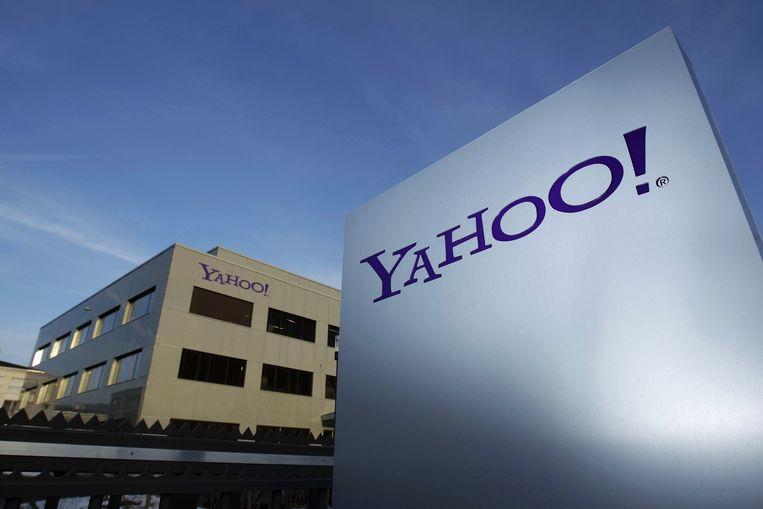 Het hoofdkwartier van Yahoo in Sunnyvale in Californië. Beeld reuters