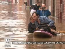 Une journaliste de la RTBF secourt des habitants victimes des inondations