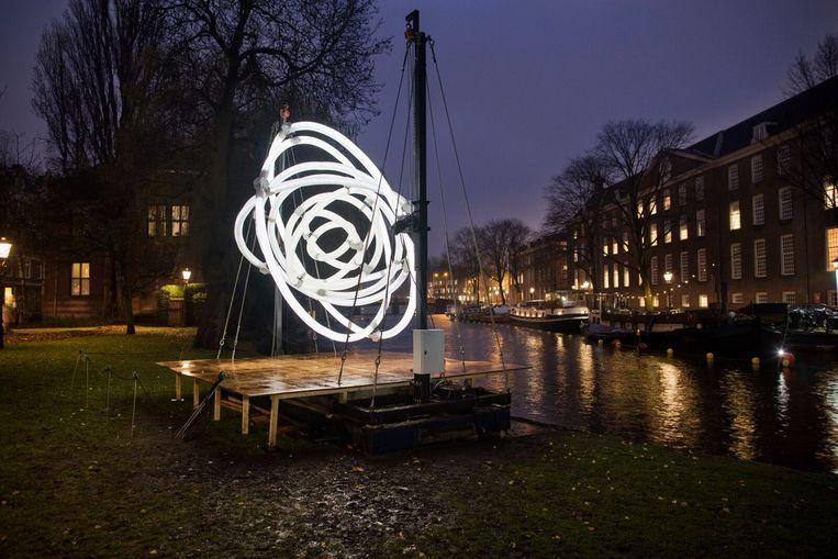 Order/Disorder. Beeld Amsterdam Light festival