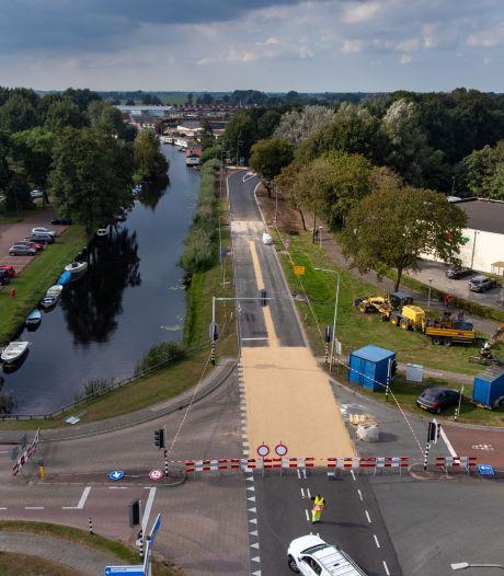 Werk aan de Vaartweg bij Hasselt nog steeds niet afgerond, komend weekeinde is de weg opnieuw dicht