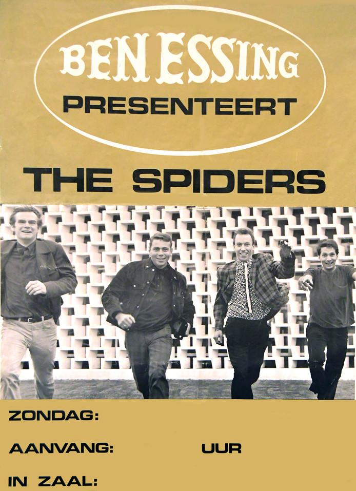 The Spiders op een affiche van promotor Ben Essing (vlnr):  Sjef Panhuijsen, Hans Vermeulen, Heinz van Tuijl en Peter van Breemen.