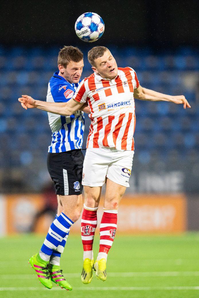 Philippe Rommens in actie in het duel met FC Eindhoven.
