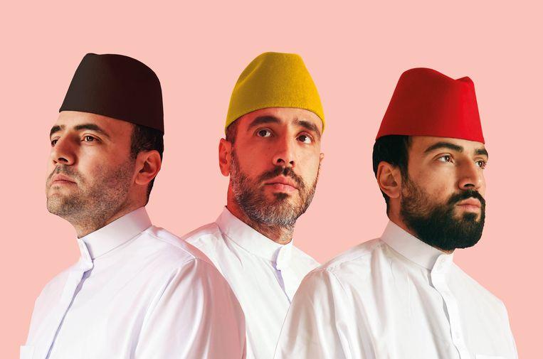 De broers Lamrabet presenteren 'Ramadamadingdong', een StuBru-programma over hoe moslims in België de ramadan beleven. Beeld VRT
