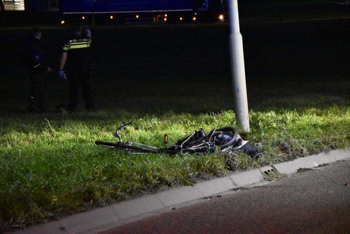 De fiets na het ongeluk in Zevenaar.