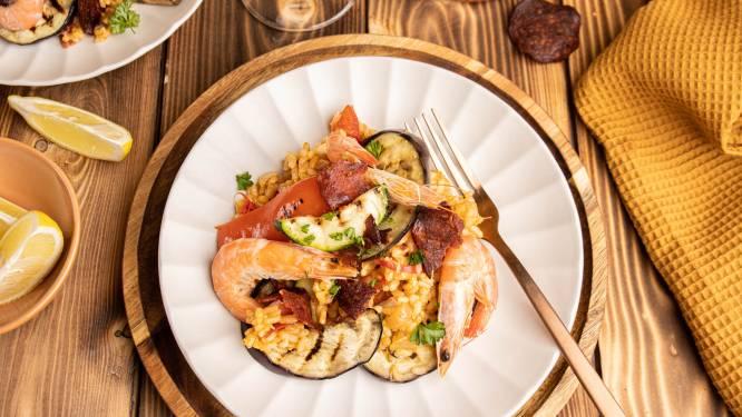 Wat Eten We Vandaag: Paella met knapperige chorizo