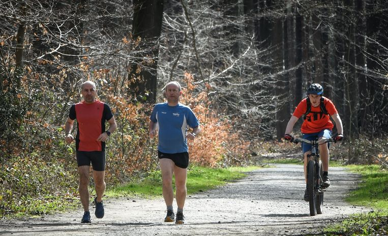 Sportievelingen genoten afgelopen weekend van het mooie weer in Oud-Heverlee.