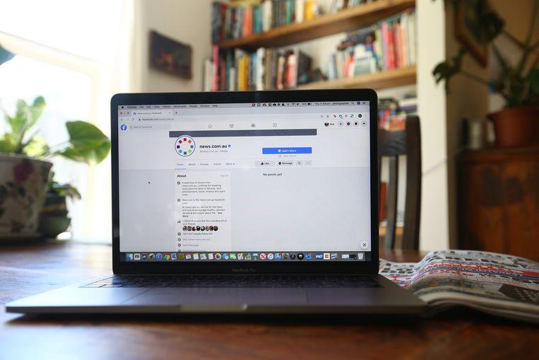 Wie in Melbourne of elders in Australië de landelijke nieuwspagina van Facebook opent, komt sinds deze week op een blanco pagina terecht. Beeld Getty Images