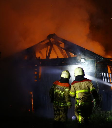 Brand verwoest schuur in Epe