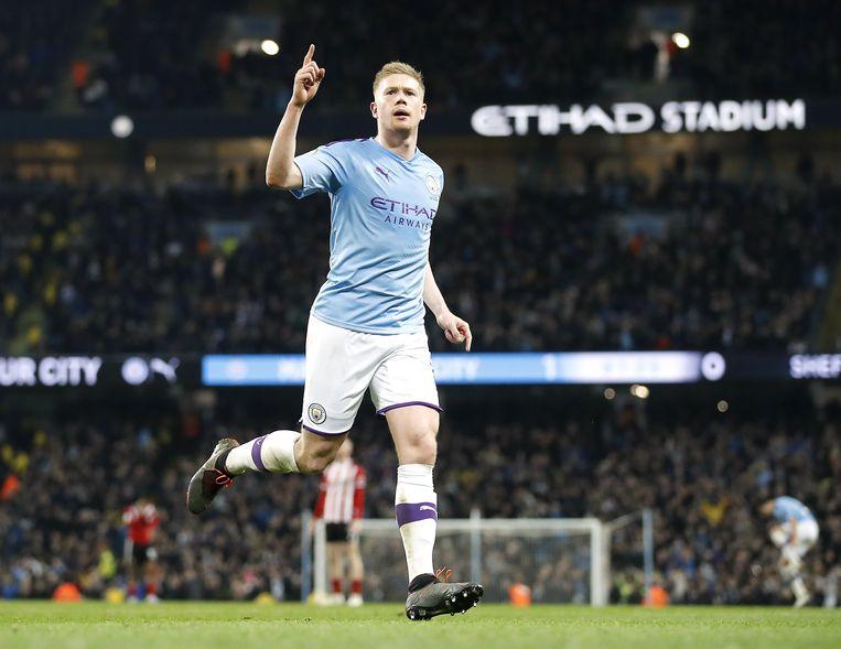 Kevin De Bruyne zou om en nabij de 25 miljoen euro per jaar verdienen bij Manchester City. Beeld Photo News
