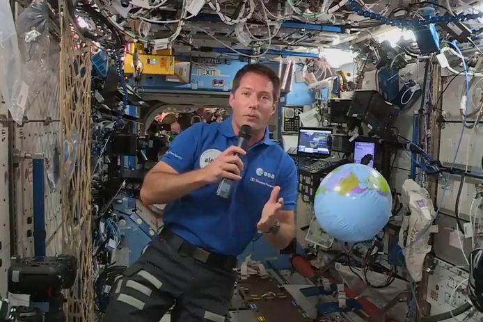 Thomas Pesquet, l'astronaute français actuellement en mission au sein de la Station spatiale internationale (ISS)