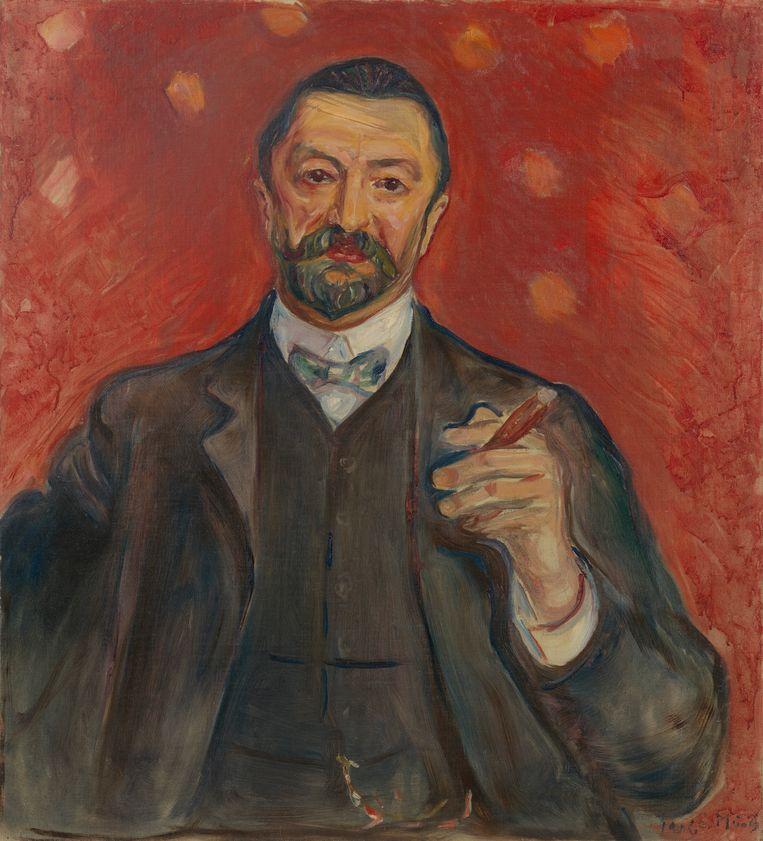 Edvard Munch, Felix Auerbach, 1906, olieverf op doek, 83,8 x 76,2 cm Beeld rv