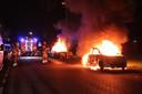 De nacht voor oud en nieuw was het in Utrecht al druk met autobranden.