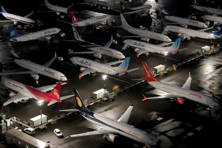 Boeing 737MAX-toestellen.  Beeld REUTERS