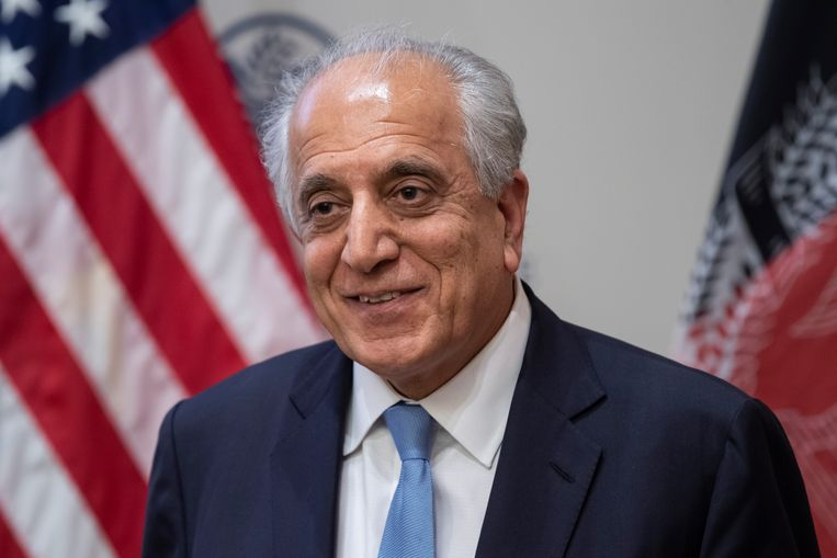 De Amerikaanse Afghanistangezant Zalmay Khalilzad. 5000 Amerikaanse militairen zullen mogelijk binnen 135 dagen Afghanistan verlaten. Beeld AFP