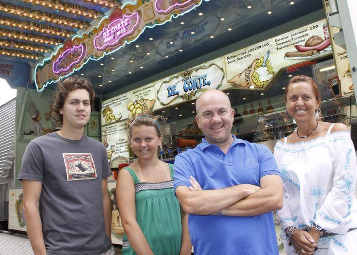 Forain Patrick De Corte met vrouw Fabienne , dochter Estelle en zoon Marvin