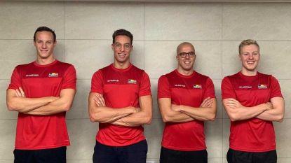Belgische estafetteploeg 4x100m vrij grijpt naast ticket Spelen op WK