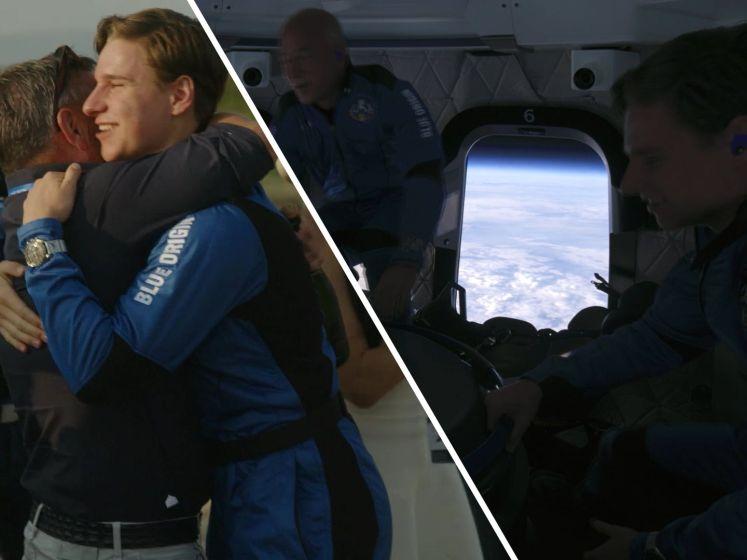 Tien minuten in de ruimte: Zo zag de reis van Oliver Daemen eruit