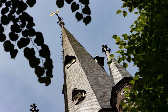 Asten ED2021 11781 Slechtvalkenkast in kerktoren De slechtvalkenkast in de kerktoren in Asten moet weg