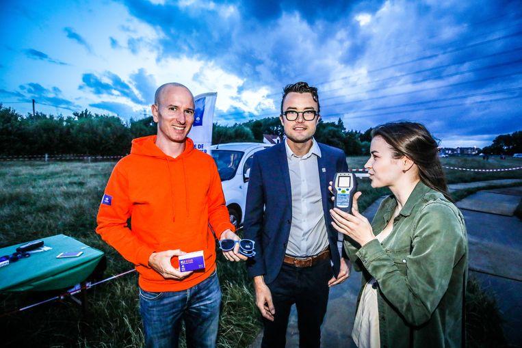 Schepen Mathijs Goderis was aanwezig bij het startschot van de campagne;