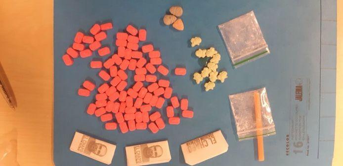 Aangetroffen drugs bij een actiedag in Gilze en Rijen.