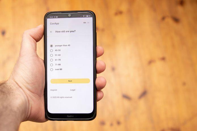 Een voorbeeld van een corona-app.