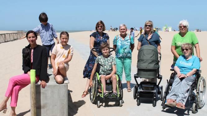 Extra verhard pad naar zee voor minder mobiele mensen in Oostende