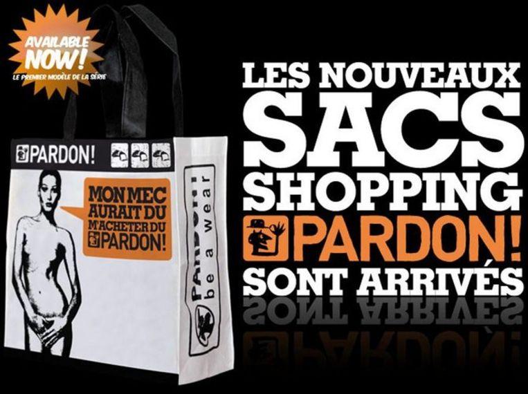 De gewraakte tas van de firma Pardon. Foto GPD Beeld