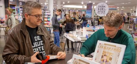 In de rij in Nijmegen voor kookboek van hiphopper Vjeze Fur
