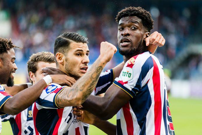 Willem II viert de 1-0 van Kwasi Wriedt.