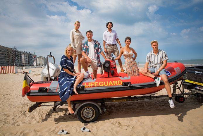 De cast van 'De Redders': Julie Vermeire, Silvio Migliore, Kato Haes, Joni Ceusters, Charlotte Goyvaerts en Laurins Dursin