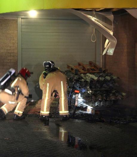 Weer brand bij garage op Leembaan in Deurne