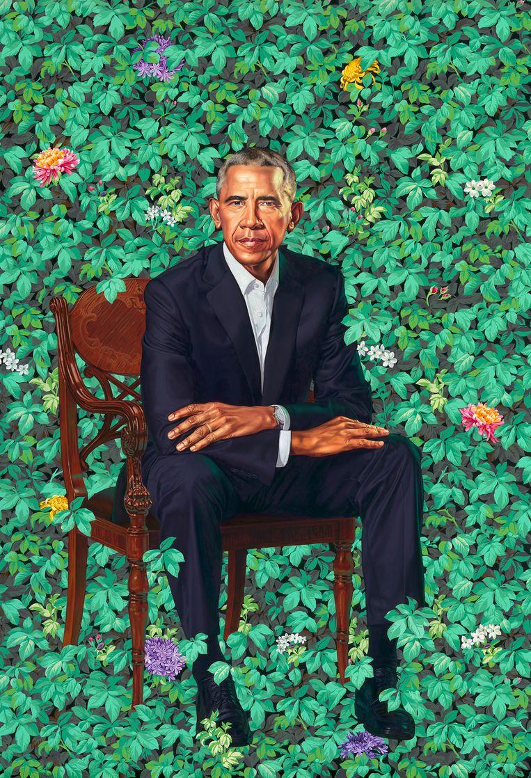 Barack Obama door Kehinde Wiley. Beeld AP