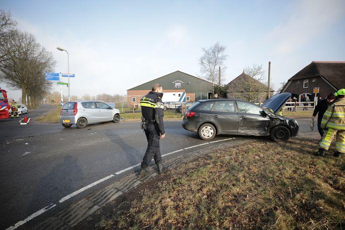 Politie en brandweer bij ongeluk Dalmsholte.