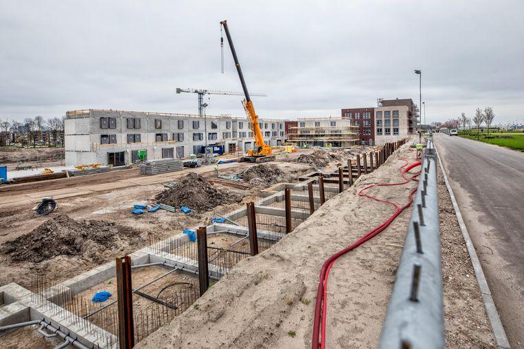 Nieuwbouw in de wijk leeuwesteyn in Leidsche Rijn. In het laatste kwartaal van vorig jaar werden er 10.744 nieuwbouwwoningen verkocht,  een plus van 53,5 procent. Beeld Raymond Rutting / De Volkskrant
