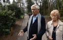 Leo en Anneke op het vakantiepark.