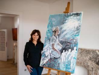 """Verpleegster maakt schilderij over coronacrisis: """"Mijn beide dochters waren besmet, dat grijpt je aan"""""""