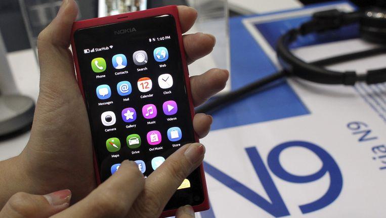 De nieuwste smartphone van Nokia, de N9. Foto Beeld ap