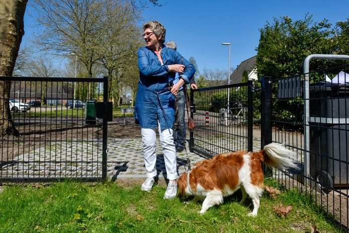 Een  van de bestaande hondenuitrenvelden in de gemeente Heusden, in dit geval aan de Burgemeester Zwaansweg in Vlijmen.