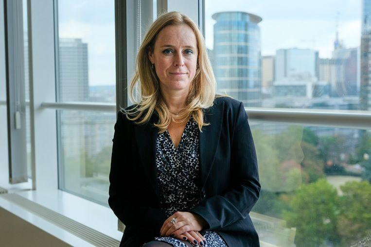 Staatssecreteris voor Begroting Eva De Bleeker (Open Vld) ziet de toekomst optimistisch in. Beeld Marc Baert