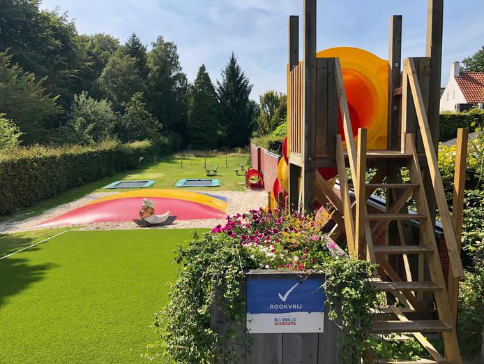 De nieuwe speeltuin achter restaurant de Pannenkoekenbakker in Eersel.
